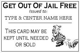 Free Card: Get Out Of Jail Free Card Template